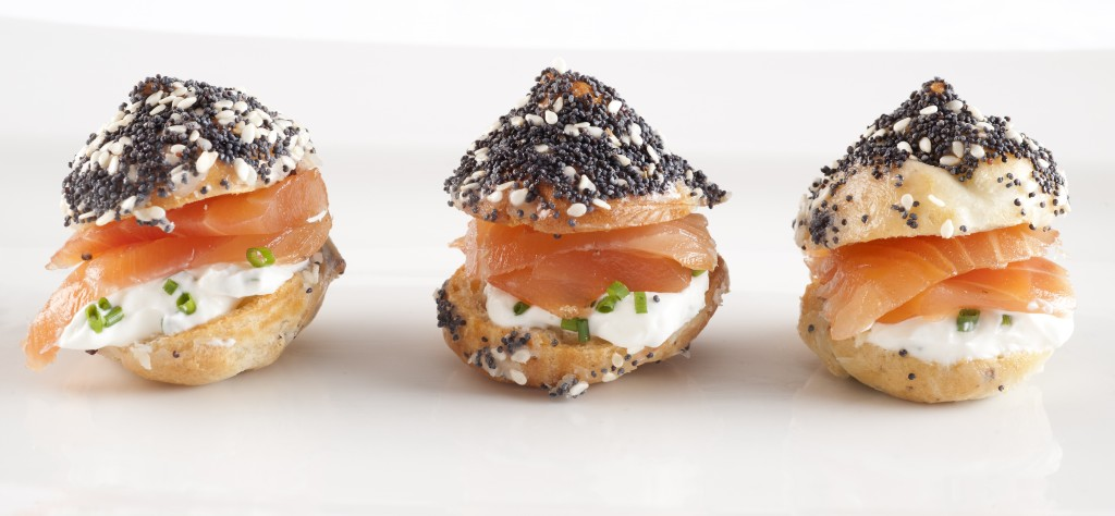 Smoked Salmon in an Everything Cream Puff